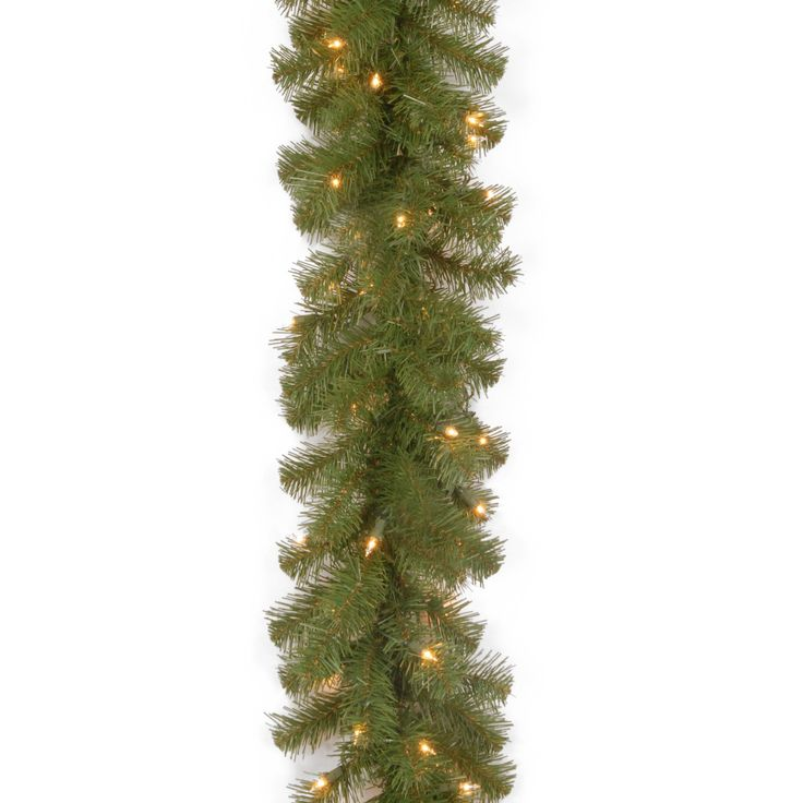 9 ft. North Valley Spruce Pre-Lit Garland - NRV7-302-9A-1