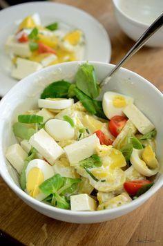 salata simpla de cartofi - dressing de iaurt