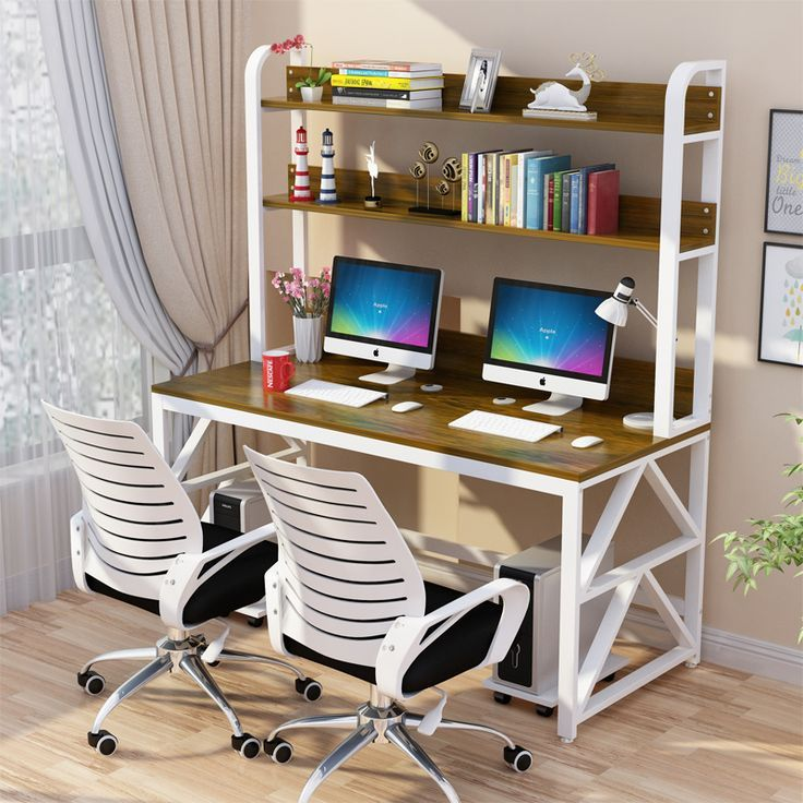 Computer Desktop Table Children 39 S Study Desk Bookshelf Combination Simple Home Desk College Students Double Writing 27311 Bookshelf Desk Desk Home Desk
