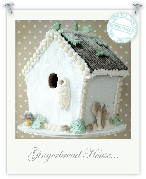 This is my kind of gingerbread house - Winter Woodland Gingerbread House