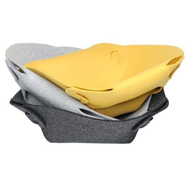 POPPY felt bowl - Boogie Design  POPPY is a foldable bowl made of natural woolen felt (100% wool).