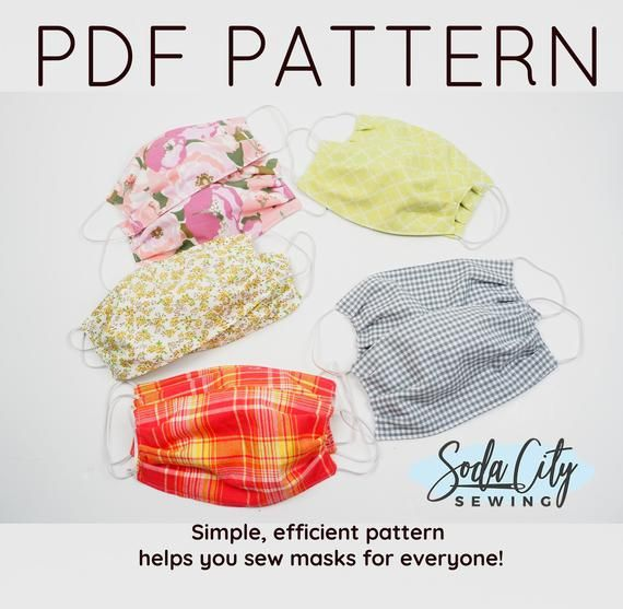 Printable Pattern Face Mask Pdf Pattern To Sew Easy Diy