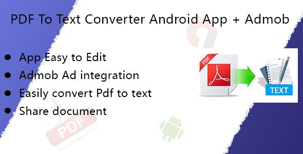 PDF to text Convert for android with admob