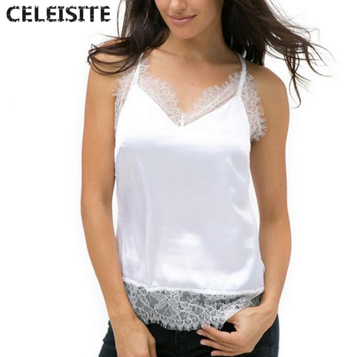 >> Click to Buy << CELEISITE Summer Sexy Lace V-Neck Tank Top Sling Camo Vest Slim for Women #Affiliate