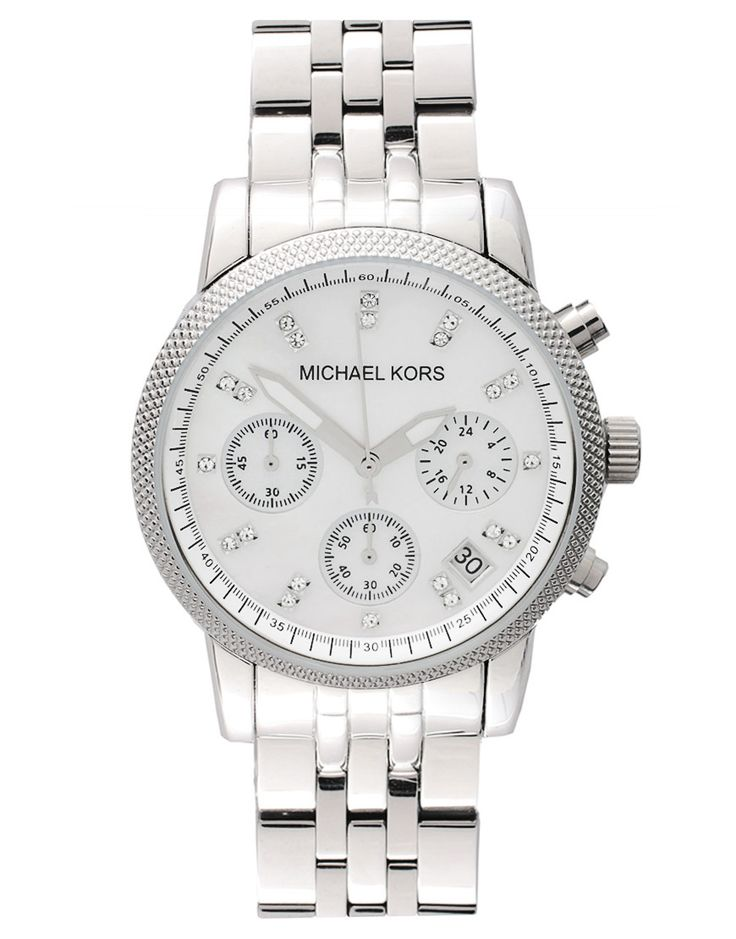 Michael Kors | Michael Kors Silver Chronograph Bracelet Watch at ASOS
