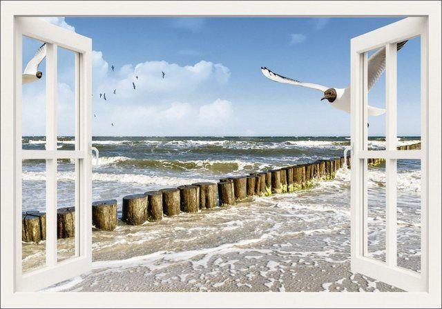 Poster oder Leinwandbild »DeVIce: Fensterblick – Ostsee«