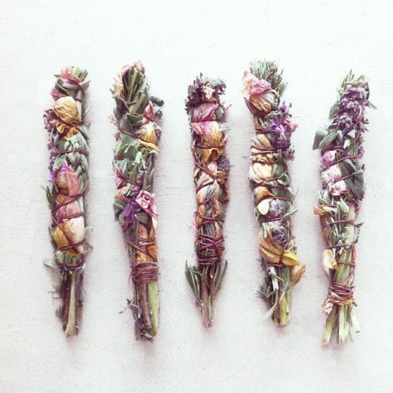 Wildcrafted Floral Smudge Wand by LEFAWNHAWK on Etsy, $12.00