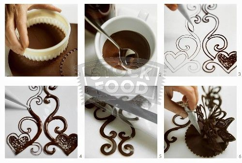 Making chocolate decorations