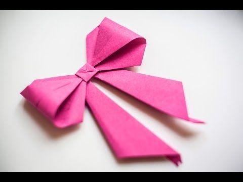 Оригами. Origami. Бант оригами / Bow origami 折り紙, 종이 접기 - YouTube