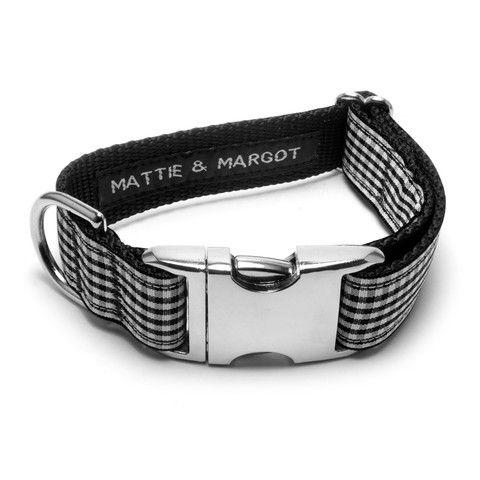 Mattie & Margot Black Gingham Dog Collar From $31.95