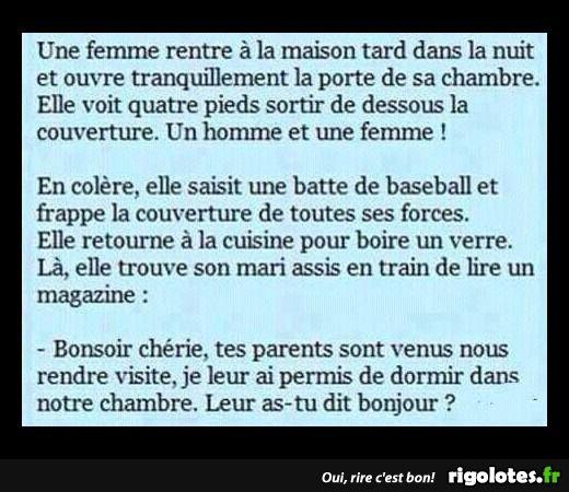 Une femme rentre ... - RIGOLOTES.fr