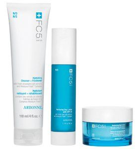 FC5 Complexion Revitalizing Set by Arbonne. $98.00. Enjoy all three FC5 face products specially formulated for normal/dry skin in this beneficial set. Includes Hydrating Cleanser + Freshener, Nuturing Day Lotion with SPF 20 and Moisturizing Night Creme. A $106.50 value
