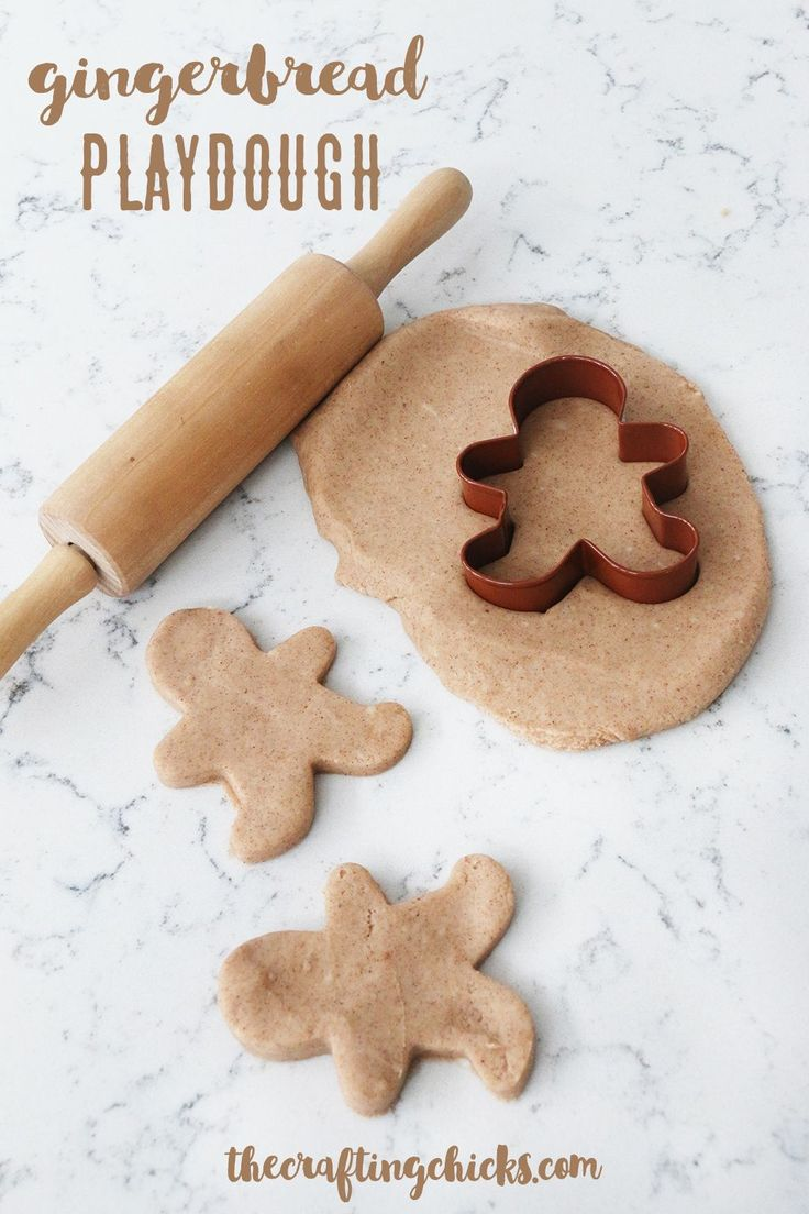Gingerbread Playdough via @craftingchicks
