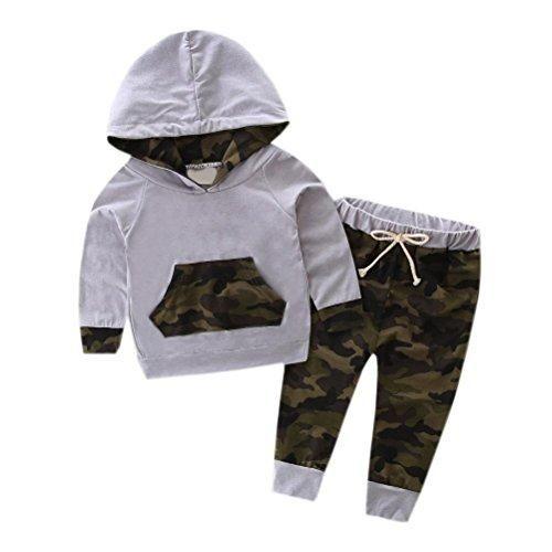 Oferta: 8.18€. Comprar Ofertas de Tefamore Conjunto Sudaderas+Pantalones Ropa de Bebe (Tamaño:12M, Gris) barato. ¡Mira las ofertas!