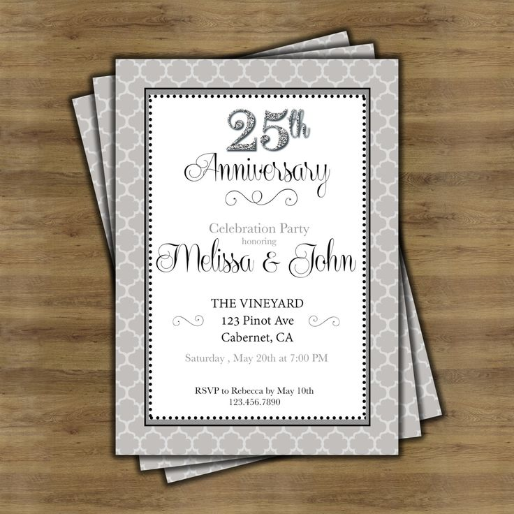 cheap0th wedding anniversary invitations%0A   th Anniversary Invitations    th Wedding Anniversary Invitations  Silver  Anniversary     Year Anniversary