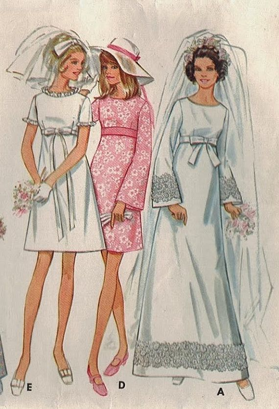 1000 images about 1960s wedding dress patterns on for Wedding dress patterns vintage