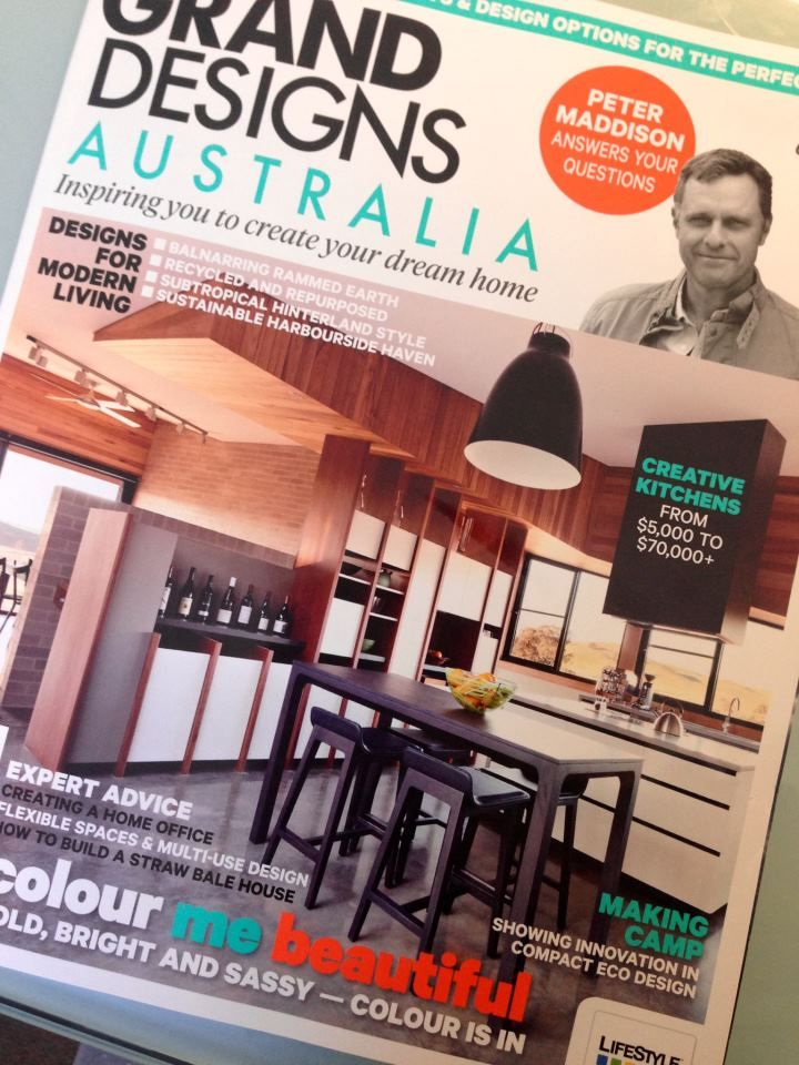 Grand Designs Australia magazine cover featuring our Alki bar stools, designed and made in France. Available for viewing at all Cosh locations (Melbourne, Sydney and Brisbane). The full Alki collection can also be seen on our website http://www.coshliving.com.au/indoor-brands/alki