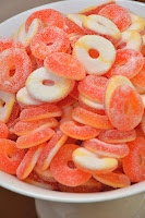 Peach Rings at the candy bar -  baby shower