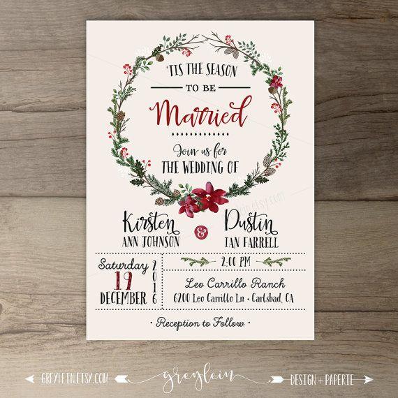 Best 25 Christmas wedding invitations ideas – Christmas Wedding Invitation