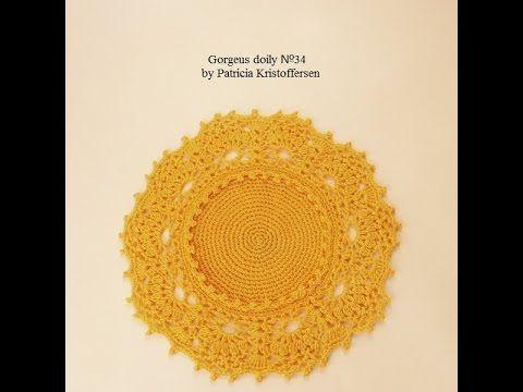 Gorgeous Doily 34 design by Patricia Kristoffersen step by step