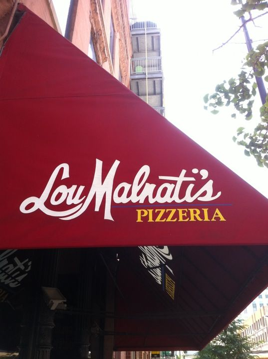 Lou Malnati's Pizzeria in Chicago, IL || Of all the major deep dish chains (Ginos, Giordanos, etc..) this is by far my favorite- Lou's has the best crust! Also, if you have room, order the bruschetta as an appetizer- it's incredible!