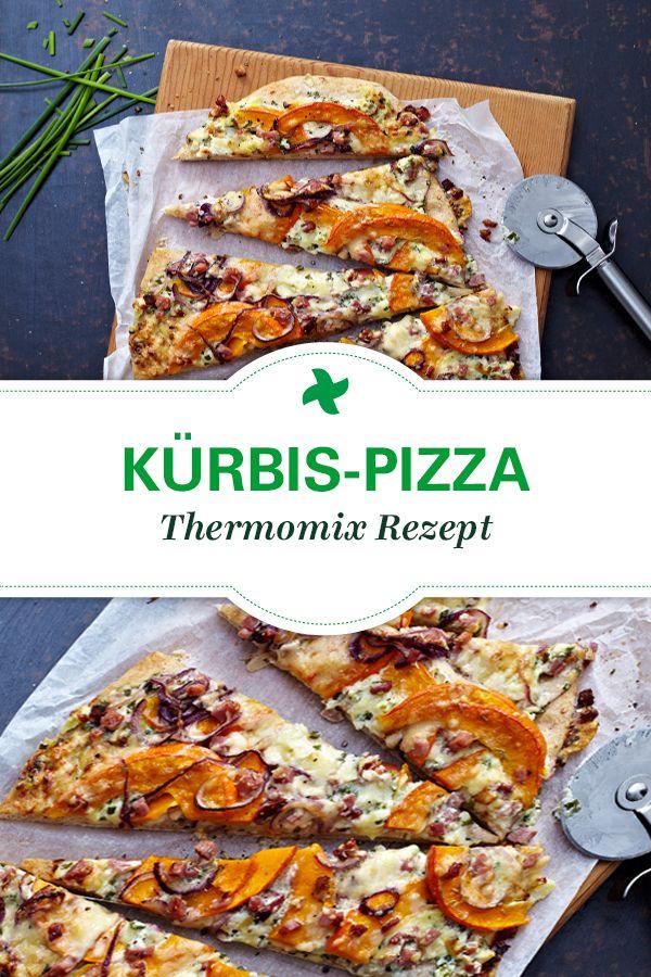 """Aus der Kollektion """"Pizza für alle"""" kommt dieses Thermomix Rezept für köstliche Kürbis-Pizza."""