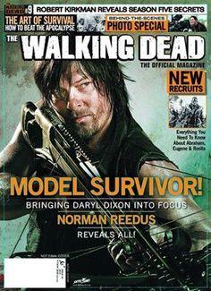 The Walking dead er et TV show fra AMC. Forsiden har et bilde av Daryl Dixon (Skuespiller: Norman Reedus) Dette er et magasin som appelerer til alle Walking dead fans, og inneholder Behind the scenes og andre Walking dead øyeblikk