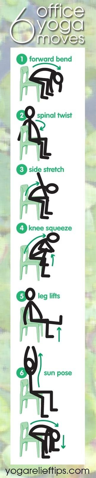Office Yoga: Easy Chair Yoga Exercises [video] | Yoga Relief Tips For Wellness