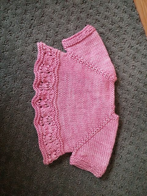 Ravelry: CoriInKansas' Baby Dot's Bellarose test knit
