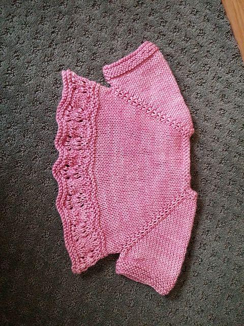 Ravelry: CoriInKansas' Baby Dot's Bellarose test knit