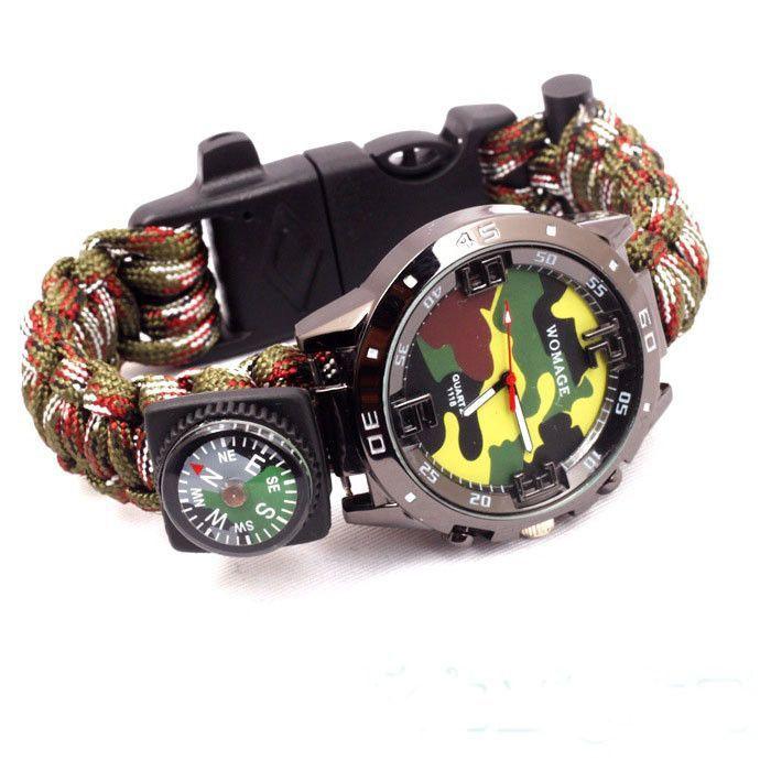 EDC GEAR # Paracord Bracelet Watch 1