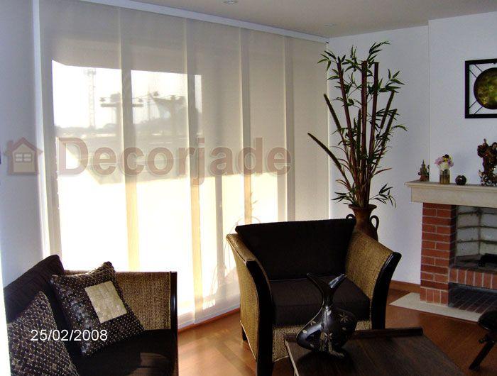 Cortinas panel japones cortina panel glide de la marca hunter douglas en tela screen color - Panel japones cortinas ...