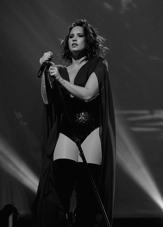 Demi Lovato on stage at the Philips Arena in Atlanta for the Future Now Tour.