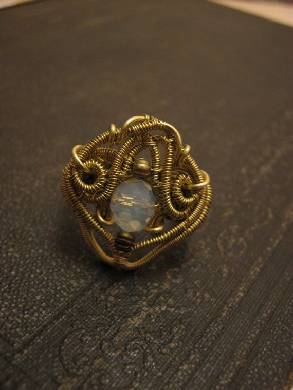 Queen of Light  wire wrapped ring  victorian ring by HouseofAquila