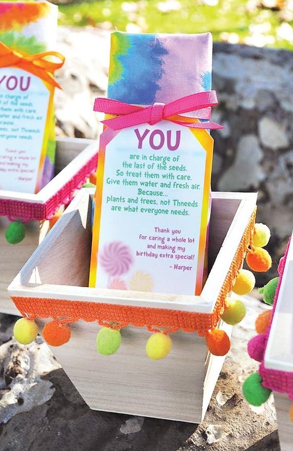 Art lorax party favors   Omit birthday stuff