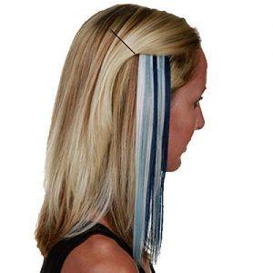 Detroit Lions Women's Navy Blue Hair Extensions