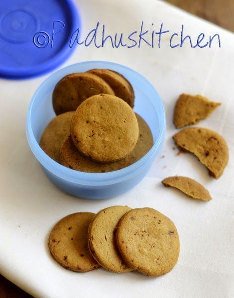 Padhuskitchen: Whole Wheat Biscuits-Healthy Atta Sweet Biscuit Re...