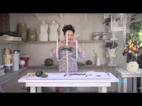 Shabby Chic Lantern Floristry Arrangement - YouTube
