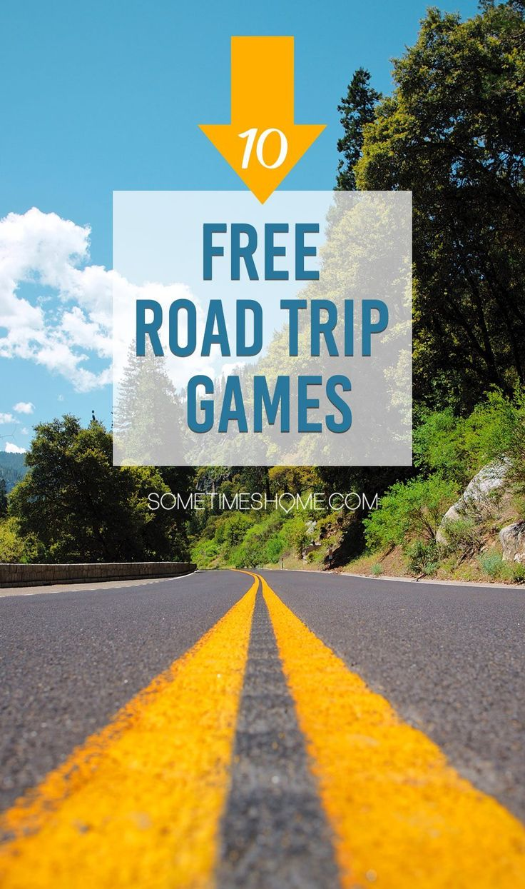 Fun Free Car Games for Road Trips on Sometimes Home travel blog. 10 games to enjoy on long drives!