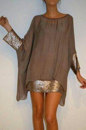 Chiffon-Kleid / Bluse Folgen Sie uns auf Facebook – Olivia Hudson – Naike Leblanc