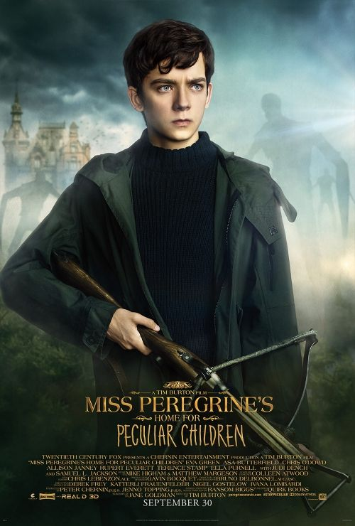 "Jacob ""Jake"" Portman played by Asa Butterfield, tasked with protecting the peculiar children in Miss Peregrine's Home For Peculiar Children. From Fox Movie."