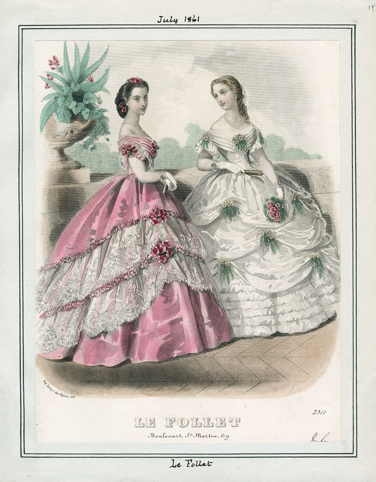My next project will be the gown on the left, in ice blue silk and white lace...