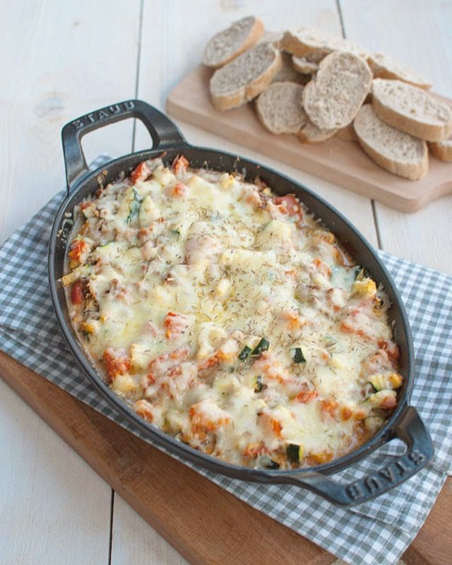 Provençaalse ovenschotel met courgette en gehakt