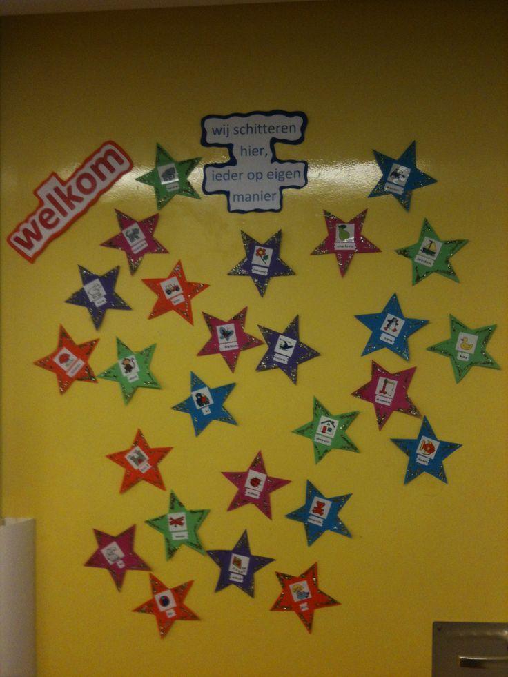 Welkom op de deur van onze klas, groep 1 en 2