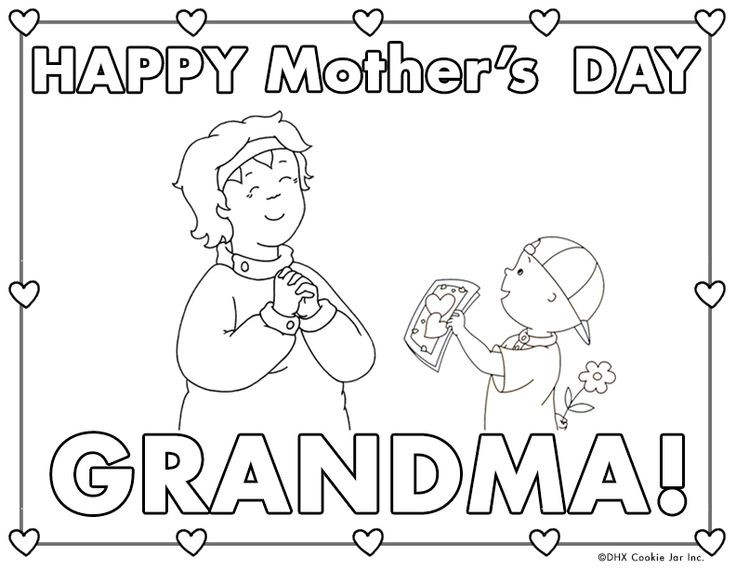 include grandma in your mothers day celebrations with this adorable mat laminate for extra long coloring sheetscoloring pagescailloumothers - Caillou Gilbert Coloring Pages