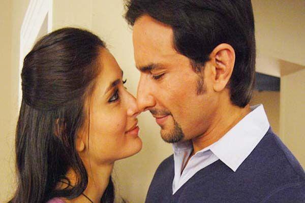 Kareena Kapoor Khan kisses hubby Saif Ali Khan