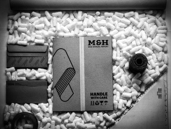 Contoh Desain Gambar Buku Laporan Tahunan -  M&H Annual Report oleh Tom Benson