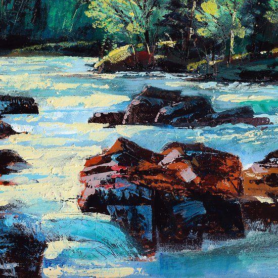 Toby Waters creek painting by Dennis Weber / ShreddyStudio