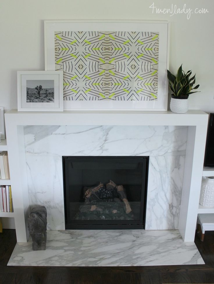 Modern marble fireplace. 4men1lady.com