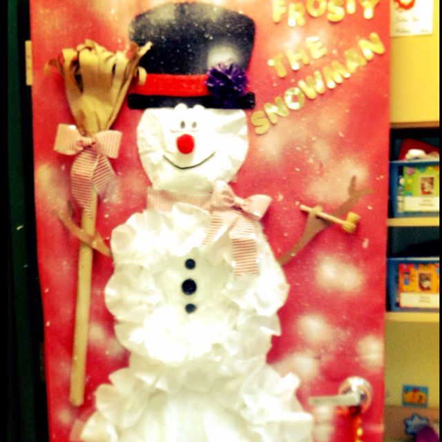 Decorating Classroom For Christmas: Frosty The Snowman, Door Decorating